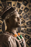 amerykanin afrykańskiego pochodzenia mężczyzna tradycyjni potomstwa Obraz Royalty Free