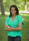 Amerykanin Afrykańskiego Pochodzenia młoda kobieta Zdjęcia Stock