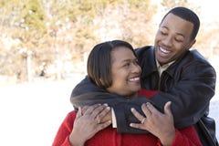Amerykanin Afrykańskiego Pochodzenia macierzysty i jej dorosły syn Fotografia Royalty Free