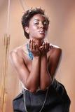 amerykanin afrykańskiego pochodzenia modny Obrazy Royalty Free