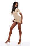 amerykanin afrykańskiego pochodzenia mody kobiety potomstwa Zdjęcie Stock