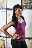 amerykanin afrykańskiego pochodzenia nastoletni Zdjęcia Stock