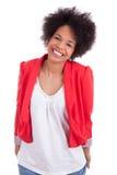 amerykanin afrykańskiego pochodzenia piękna portreta kobieta Obrazy Stock
