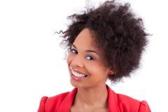 amerykanin afrykańskiego pochodzenia piękna portreta kobieta Zdjęcia Stock