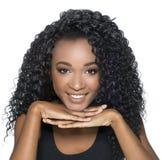 amerykanin afrykańskiego pochodzenia piękny Fotografia Stock