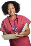 amerykanin afrykańskiego pochodzenia pielęgniarka Zdjęcia Royalty Free