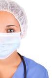 Amerykanin Afrykańskiego Pochodzenia pielęgniarka z stetoskopem Obrazy Royalty Free