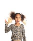 amerykanin afrykańskiego pochodzenia pieniądze czarny dziecka pieniądze Zdjęcie Royalty Free