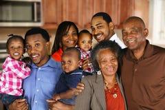amerykanin afrykańskiego pochodzenia rodzina zdjęcie stock