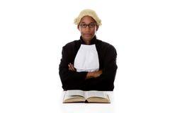 amerykanin afrykańskiego pochodzenia sędziego mężczyzna potomstwa zdjęcia royalty free