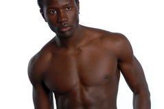 amerykanin afrykańskiego pochodzenia samiec potomstwa Obrazy Stock