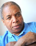 Amerykanin afrykańskiego pochodzenia samiec wyrażenia zdjęcie royalty free