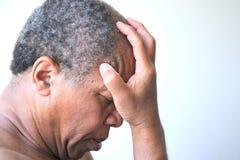 Amerykanin afrykańskiego pochodzenia samiec wyrażenia obraz stock
