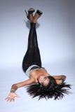 amerykanin afrykańskiego pochodzenia splendoru włosy długi wzorcowy seksowny Obrazy Royalty Free