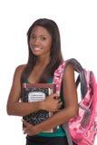 amerykanin afrykańskiego pochodzenia studenta collegu kobiety potomstwa zdjęcie royalty free