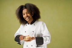 amerykanin afrykańskiego pochodzenia szef kuchni szczęśliwi potomstwa Zdjęcie Stock