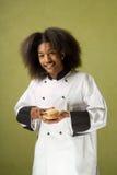 amerykanin afrykańskiego pochodzenia szef kuchni szczęśliwi potomstwa Fotografia Royalty Free