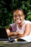 amerykanin afrykańskiego pochodzenia uczeń fotografia stock