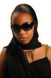 amerykanin afrykańskiego pochodzenia z klasą dziewczyna fotografia royalty free