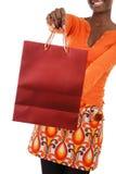 amerykanin afrykańskiego pochodzenia zakupy kobieta Obraz Stock