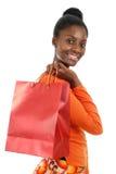 amerykanin afrykańskiego pochodzenia zakupy kobieta fotografia royalty free