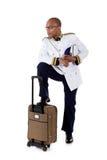 amerykanin afrykańskiego pochodzenia atrakcyjny statek wycieczkowy ekonom Fotografia Royalty Free