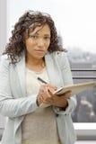 amerykanin afrykańskiego pochodzenia bizneswomanu portret Zdjęcie Royalty Free