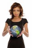 amerykanin afrykańskiego pochodzenia bizneswomanu potomstwa Obraz Stock