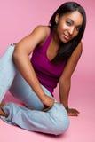 amerykanin afrykańskiego pochodzenia dziewczyna Fotografia Royalty Free