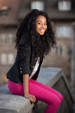 amerykanin afrykańskiego pochodzenia dziewczyny nastoletni potomstwa Zdjęcia Stock
