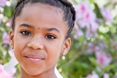 amerykanin afrykańskiego pochodzenia dziewczyny potomstwa Zdjęcie Royalty Free