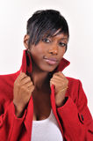 amerykanin afrykańskiego pochodzenia kamery damy target1039_0_ Fotografia Stock