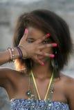 amerykanin afrykańskiego pochodzenia kobieta Zdjęcia Stock