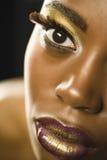 Amerykanin Afrykańskiego Pochodzenia kobieta Z Highfashion Makeup Obraz Stock