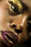 Amerykanin Afrykańskiego Pochodzenia kobieta Z Highfashion Makeup Obraz Royalty Free