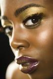 Amerykanin Afrykańskiego Pochodzenia kobieta Z Highfashion Makeup Obrazy Stock