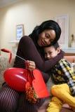 Amerykanin Afrykańskiego Pochodzenia kobiety dowcip jej syn Fotografia Royalty Free