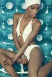 Amerykanin Afrykańskiego Pochodzenia kobiety model Obraz Royalty Free