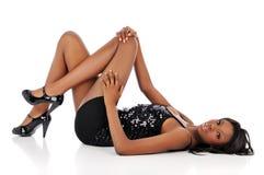 amerykanin afrykańskiego pochodzenia kobiety potomstwa Zdjęcia Royalty Free