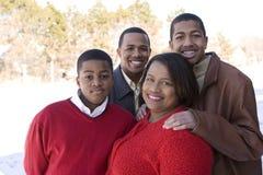 Amerykanin Afrykańskiego Pochodzenia matka i jej nastoletni synowie Fotografia Royalty Free