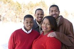 Amerykanin Afrykańskiego Pochodzenia matka i jej nastoletni synowie Obrazy Stock
