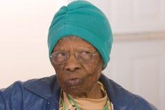 amerykanin afrykańskiego pochodzenia mieszkana senior Obraz Stock