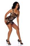 amerykanin afrykańskiego pochodzenia mody kobiety potomstwa Fotografia Stock