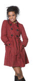 amerykanin afrykańskiego pochodzenia mody model Obraz Stock