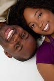 amerykanin afrykańskiego pochodzenia para Obraz Royalty Free