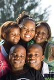 amerykanin afrykańskiego pochodzenia rodzina Zdjęcia Royalty Free