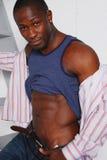 amerykanin afrykańskiego pochodzenia samiec Zdjęcie Royalty Free