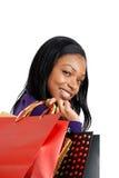 amerykanin afrykańskiego pochodzenia zdojest zakupy kobiety Obrazy Stock