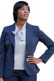 amerykanin afrykańskiego pochodzenia biznesowa corproate kobieta Fotografia Royalty Free