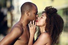 amerykanin afrykańskiego pochodzenia kobiety samiec Zdjęcie Stock
